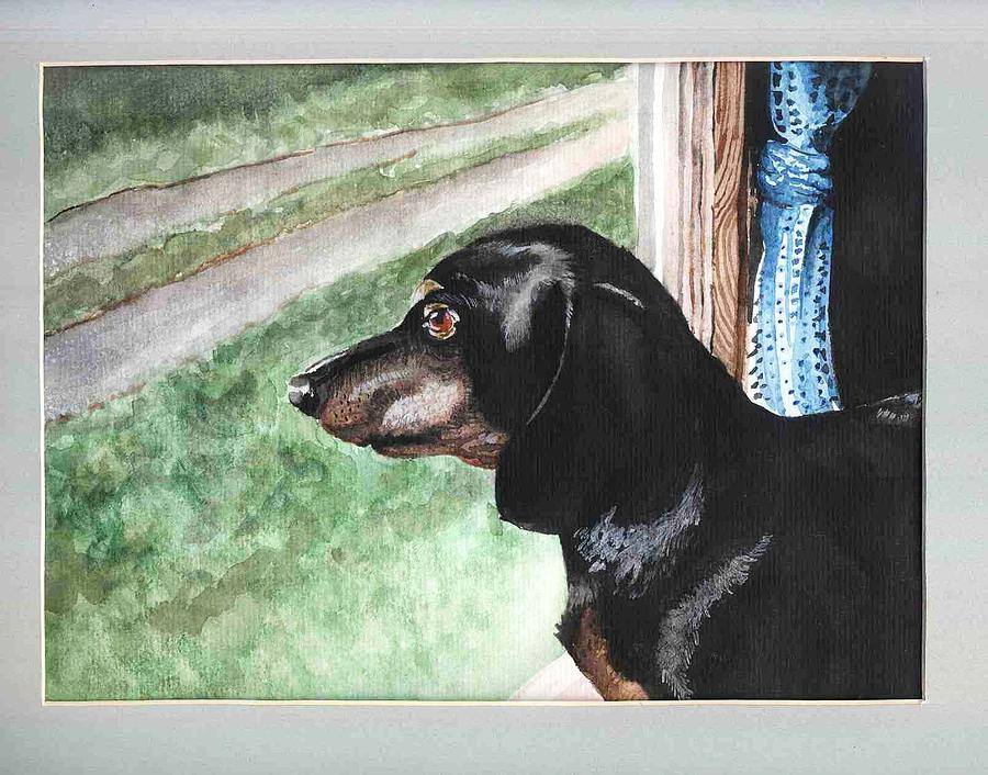 Dog Painting - Watercolor Dog by Kyle Gray
