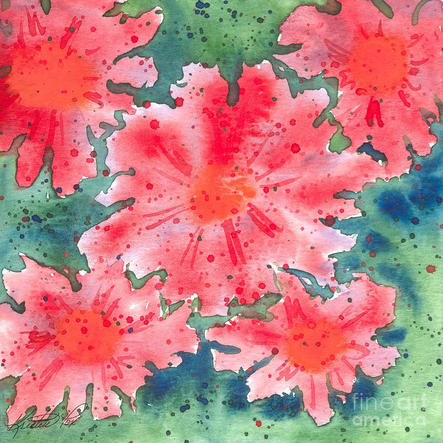 Watercolor Flowers Painting by Kristen Fox