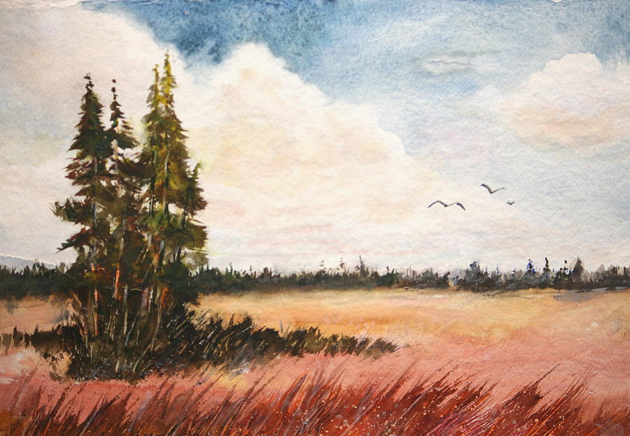 Watercolor Lesson Painting by Bobby Walters