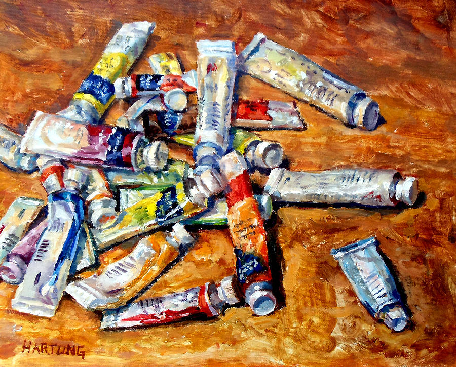 Oil Painting Painting - Watercolor Tubes by Mark Hartung