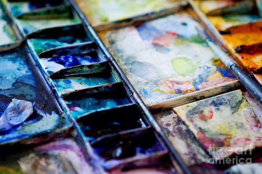 Watercolors Photograph - Watercolors by Kim Fearheiley
