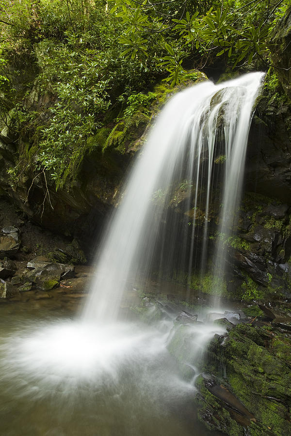 Grotto Falls Photograph - Waterfall At Springtime by Andrew Soundarajan