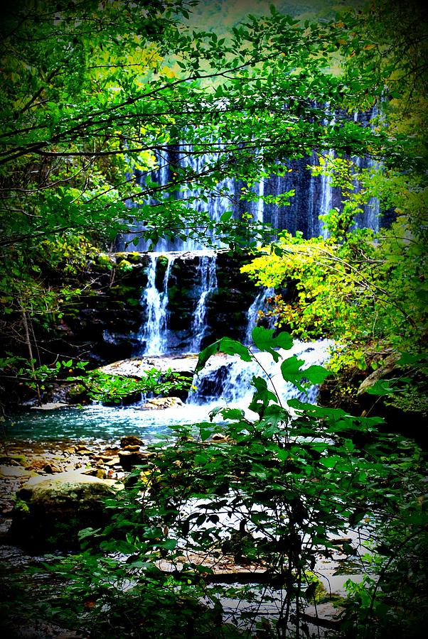 Water Photograph - Waterfall by Charles Covington
