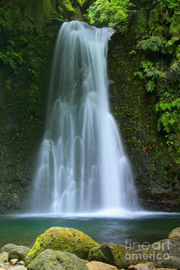 Waterfall In Azores Islands Photograph By Gaspar Avila