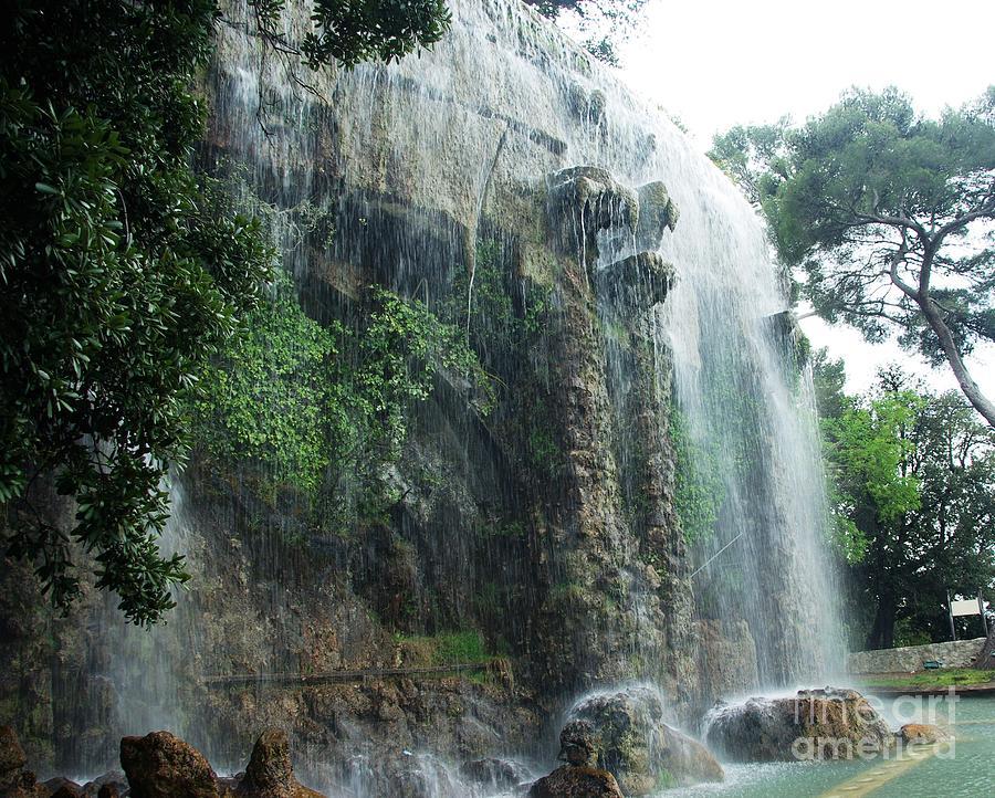 Nice Photograph - Waterfall In Nice by Amalia Suruceanu