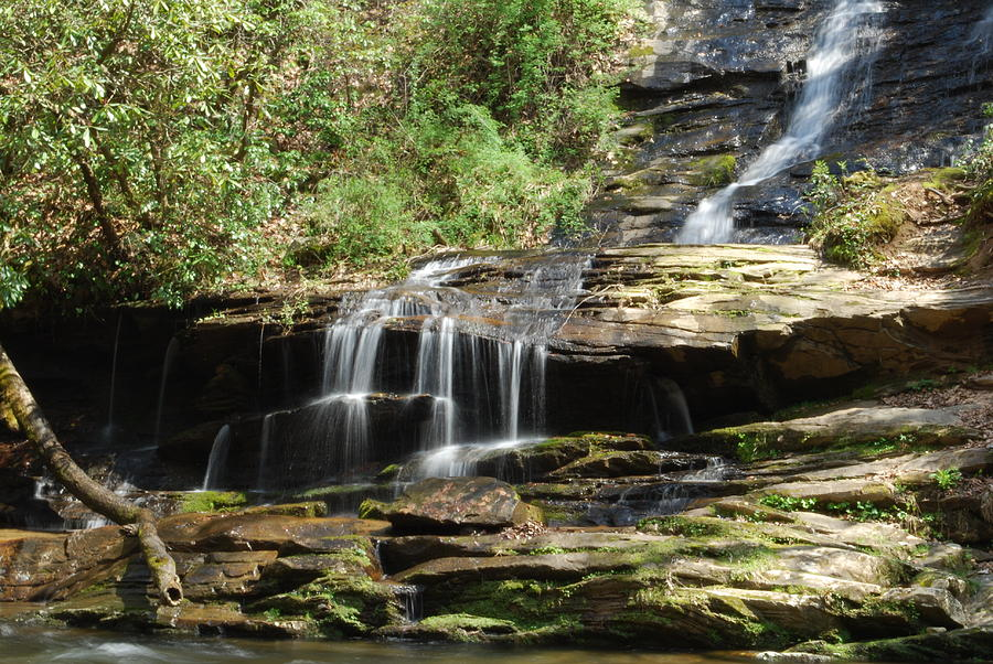 Waterfall Photograph - Waterfall Over Rocks by Carrie Munoz