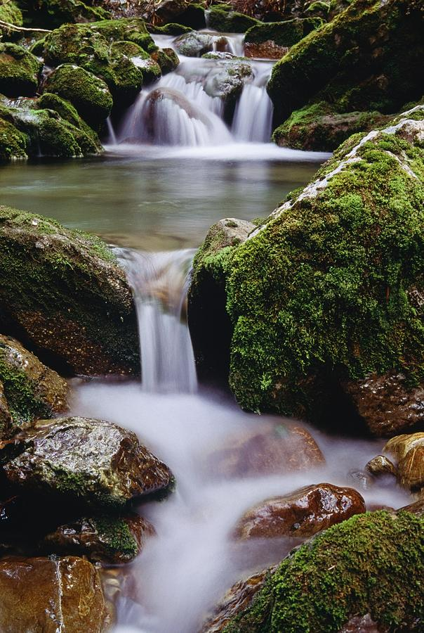 Blurred Motion Photograph - Waterfall, Peter Lougheed Provincial by Bilderbuch