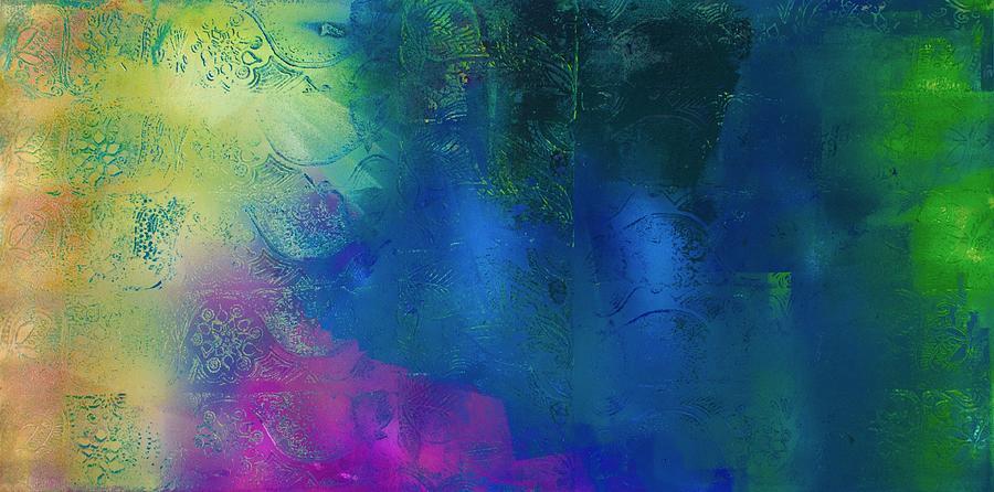 Multi Color Relief - Waterfall Rain by Samar Asamoah