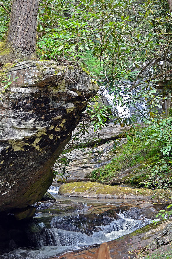 Rock Photograph - Waterfall Rock by Susan Leggett