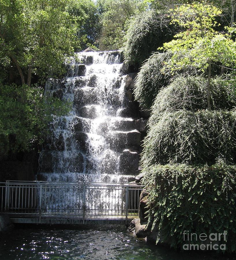 Waterfall Photograph - Waterfall Scene by Lorrie Bible