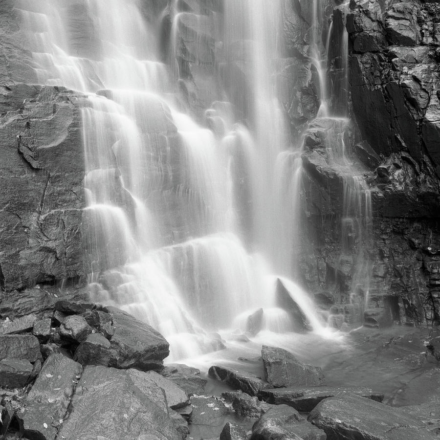 Square Photograph - Waterfalls At Chimney Rock State Park by Holden Richards