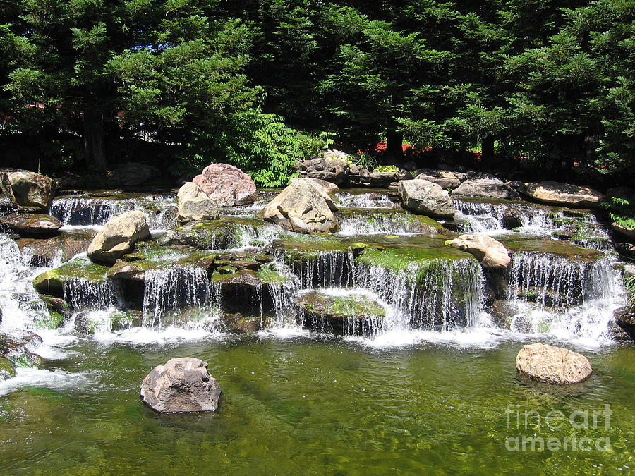 Waterfall Photograph - Waterfalls In A Lake by Lorrie Bible