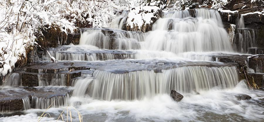Waterfalls With Fresh Snow Thunder Bay Photograph By Susan