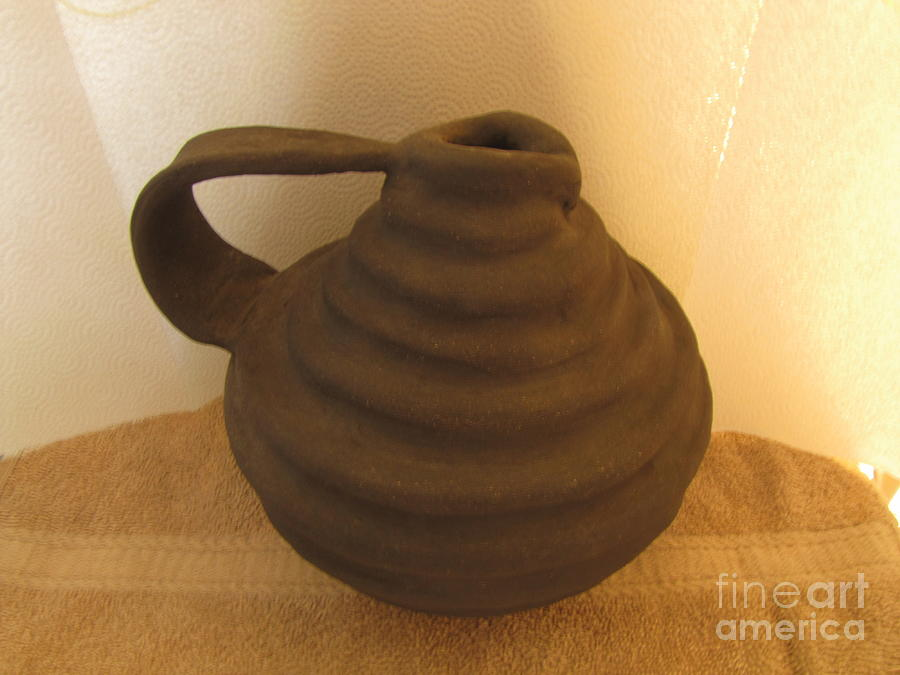 Watering Can Ceramic Art - Watering Vase by Christina Perry