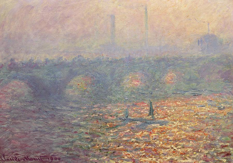 Waterloo Bridge Painting - Waterloo Bridge by Claude Monet