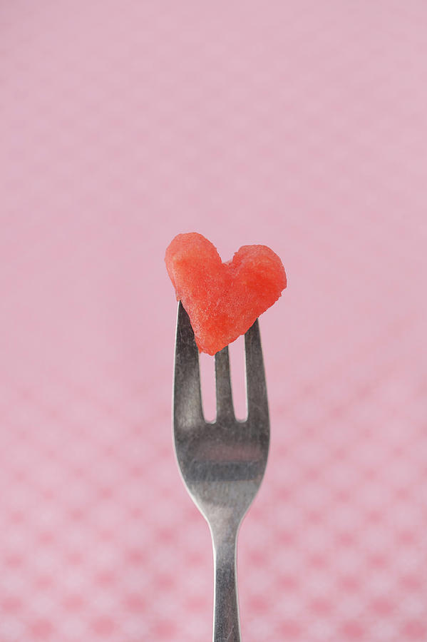 Vertical Photograph - Watermelon Heart by Elin Enger