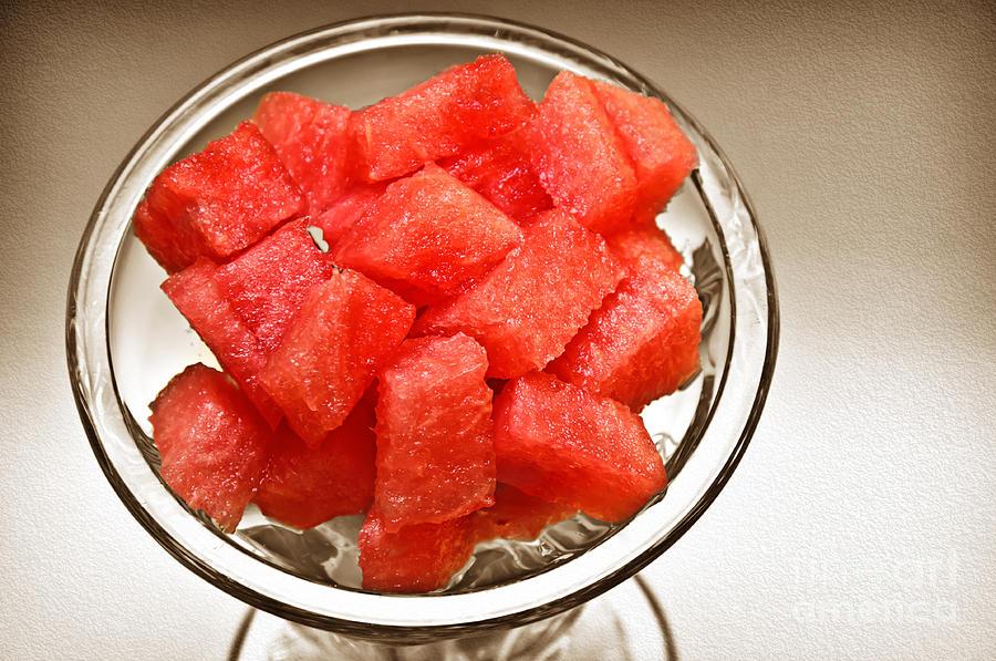 Watermelon Photograph - Watermelon Parfait 2 by Andee Design