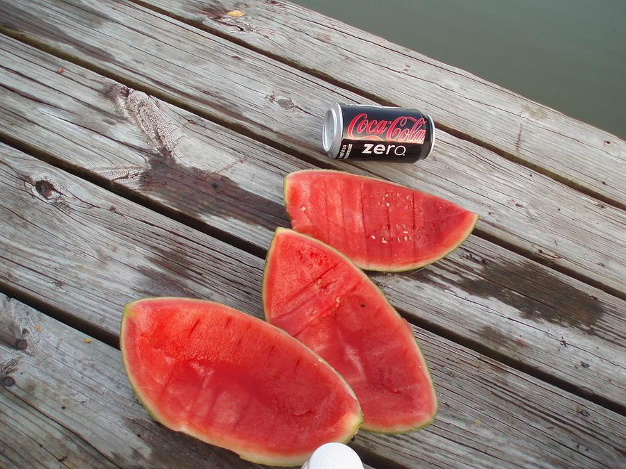 Fishing Photograph - Watermelon Rinds by Charles Weinacker