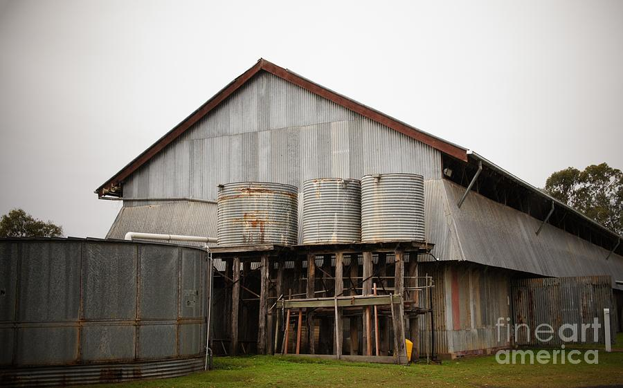 Water Photograph - Watertanks And Shed by Therese Alcorn