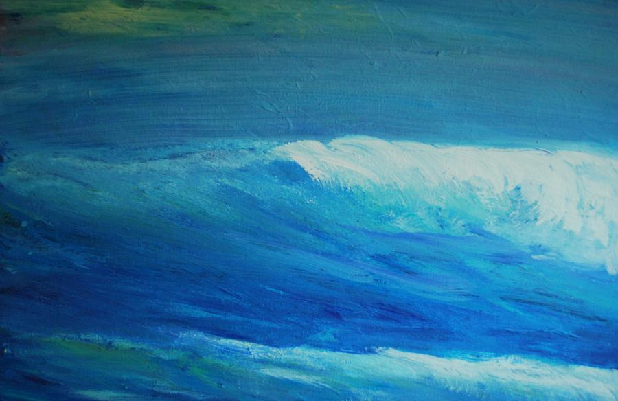 wave abstract 2 painting by dc decker