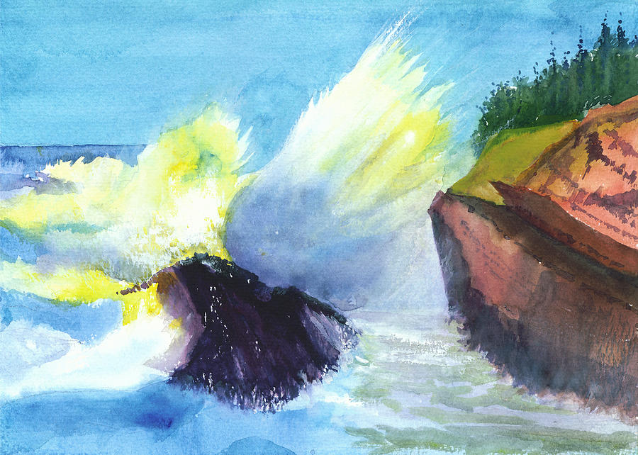 Waves Painting - Waves 1 by Anil Nene