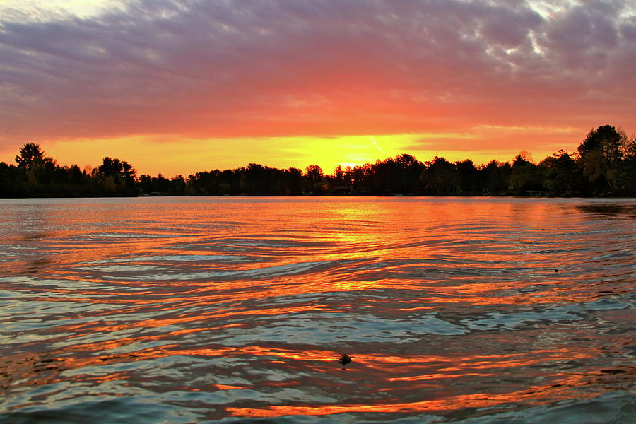 Sun Photograph - Waves And The Sun by Mike Stouffer