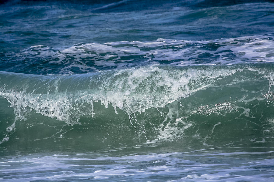 Beach Photograph - Waves by Andrea  OConnell