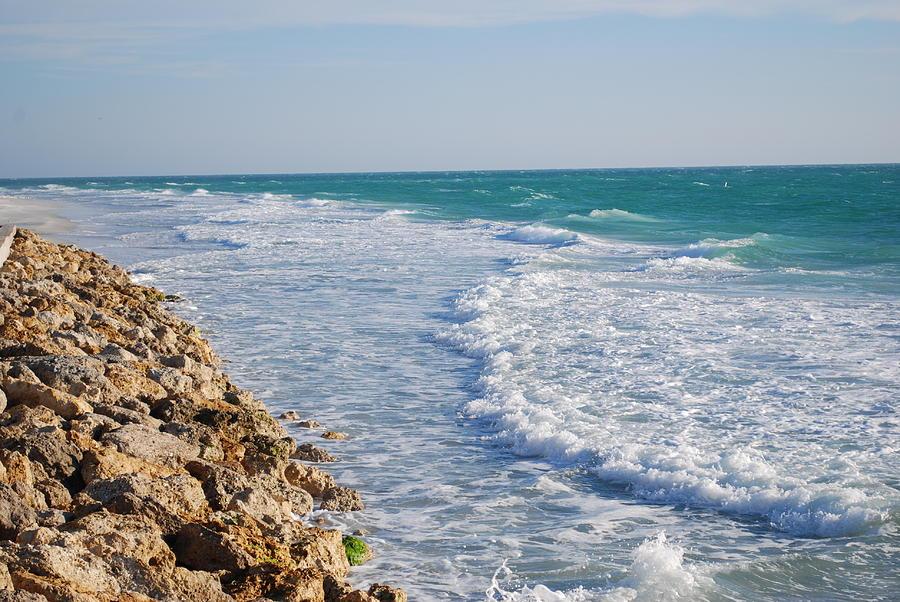 Beach Photograph - Waves At The Beach by Carrie Munoz