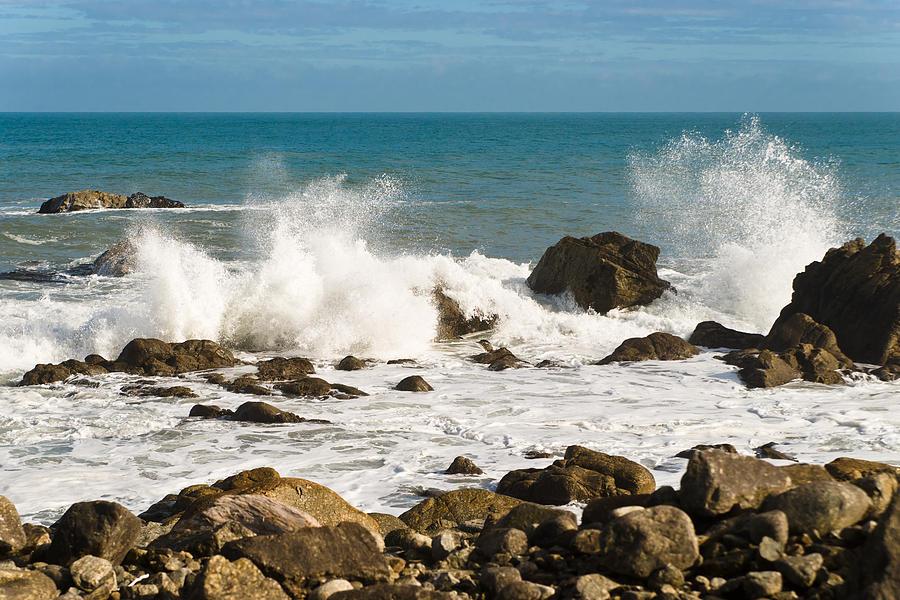 Beach Photograph - Waves by Graeme Knox