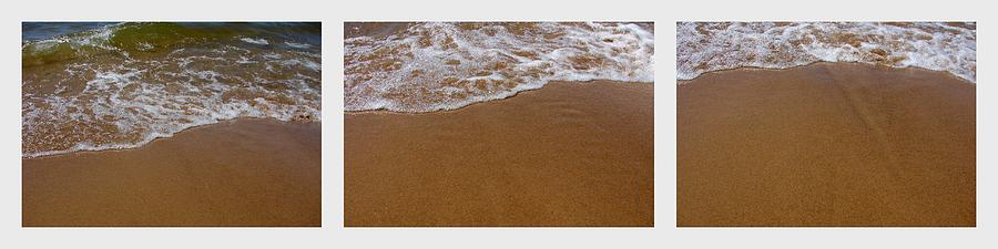 Waves Photograph - Waves Triptych by Michelle Calkins