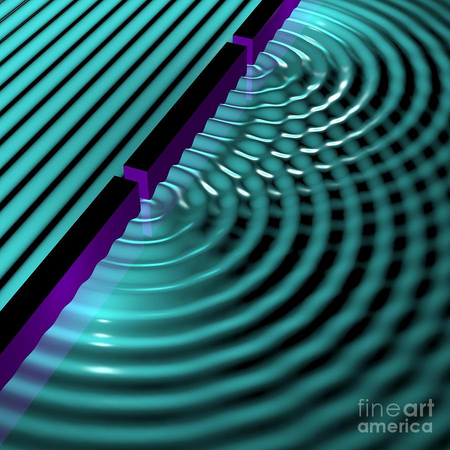 Waves Two Slit 3 Digital Art By Russell Kightley