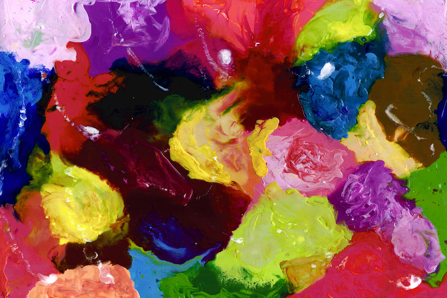Abstract Painting - Wax Rainbow On Canvax Two K O One by Carl Deaville