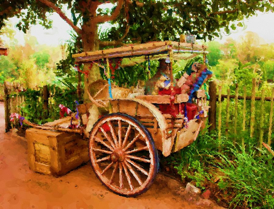 Rickshaw Painting - Way Of Life by Carmen Del Valle