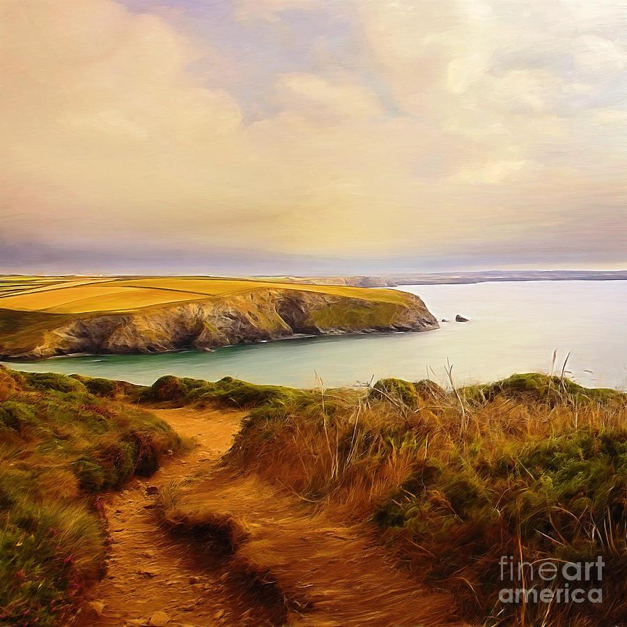 Coast Painting - way by Silvio Schoisswohl