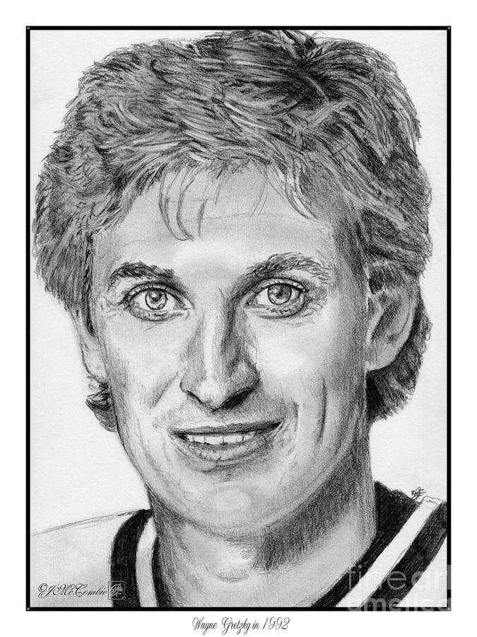 Wayne Gretzky Drawing - Wayne Gretzky In 1992 by J McCombie