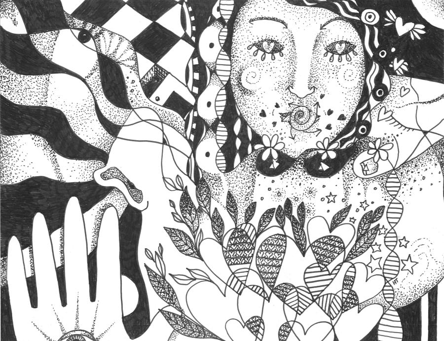 Love Drawing - Ways Of Seeing by Helena Tiainen