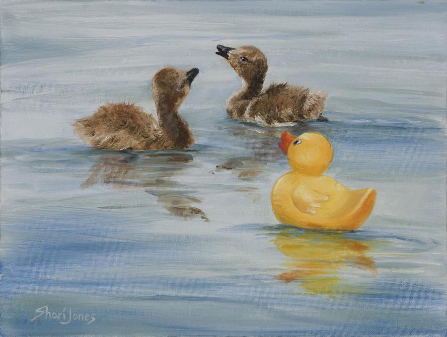 Animal Painting - We all need to belong by Shari Jones