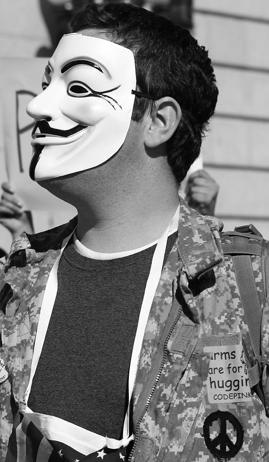 Occupy Photograph - We Are Anonymous by Sonya Anthony