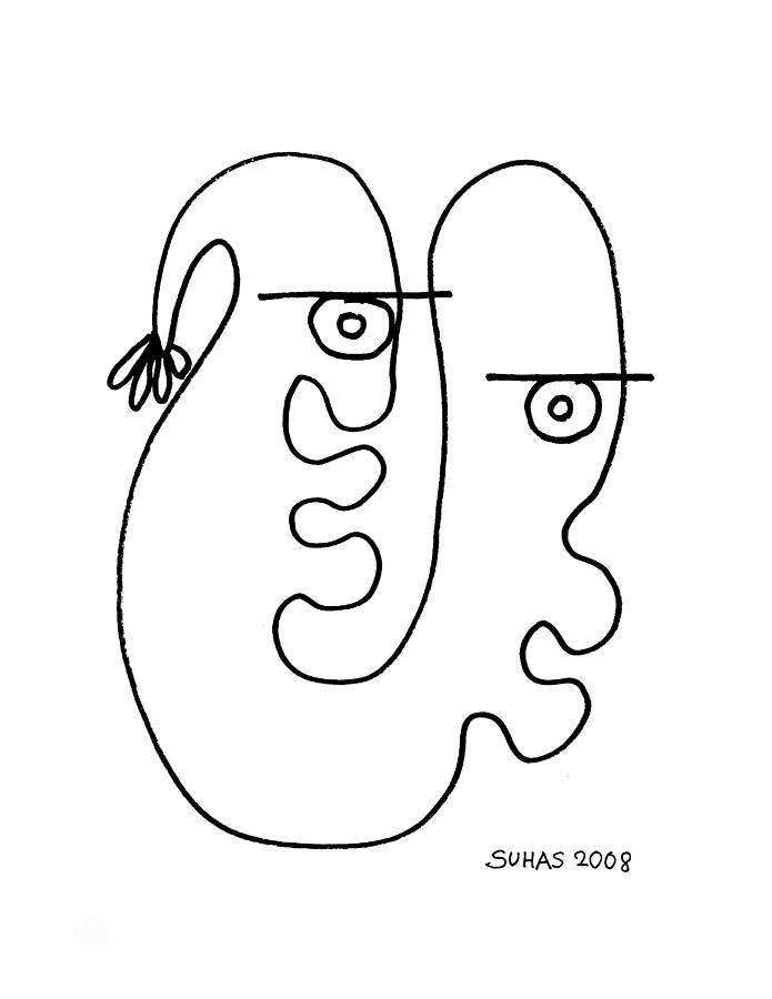 Line Drawings Photograph - We Are One by Suhas Tavkar