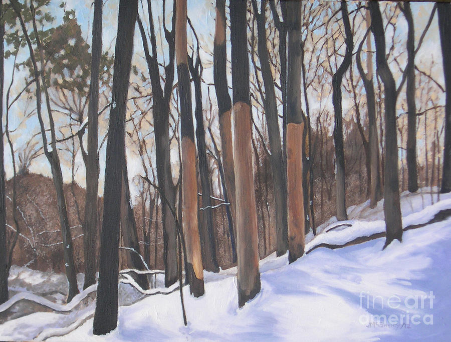 Winter Landscapes Painting - We Stand On Guard For Thee by Joan McGivney