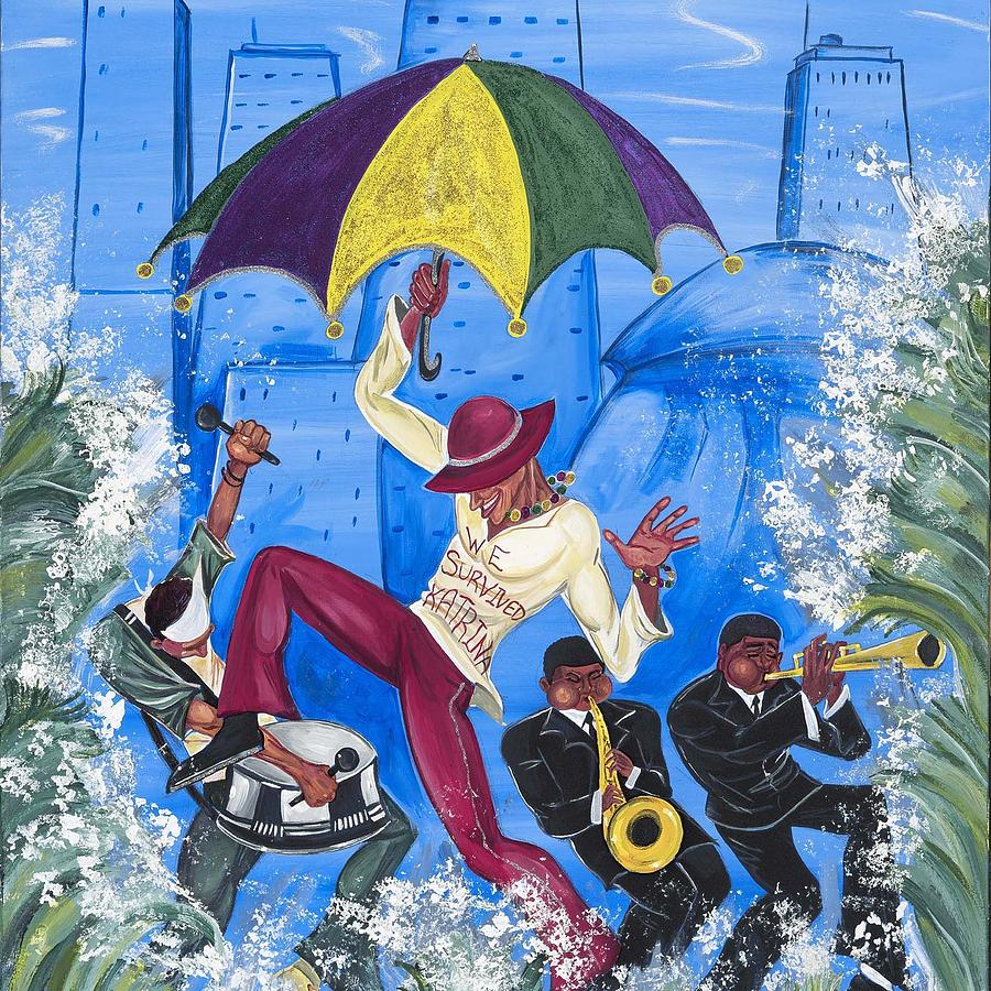 New Orleans Painting - we Survived Katrina by Mccormick  Arts