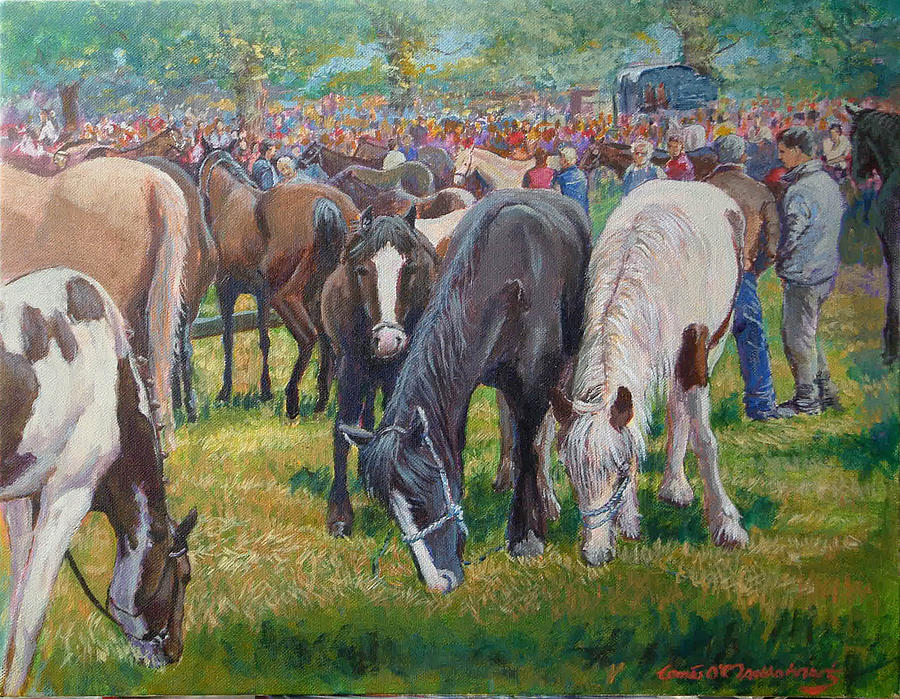 Spancill Painting - We Three Spancilhill Co Clare by Tomas OMaoldomhnaigh