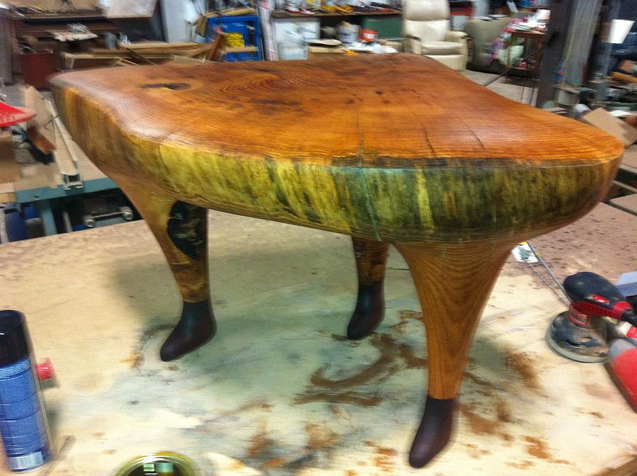 Table Sculpture - We Walked There Alone by John Hopson