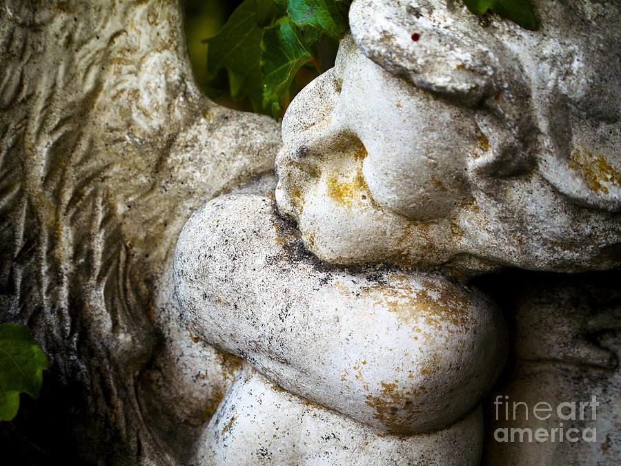 Angel Photograph - Weary Angel by Leslie Hunziker