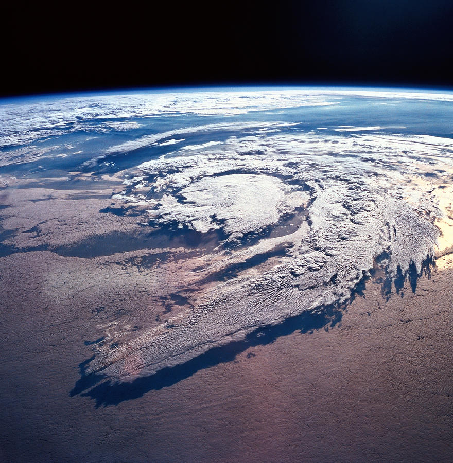 Square Photograph - Weather Systems Above Earth by Stockbyte