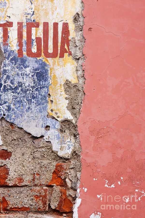 Abandoned Photograph - Weathered And Cracked Wall by Jeremy Woodhouse