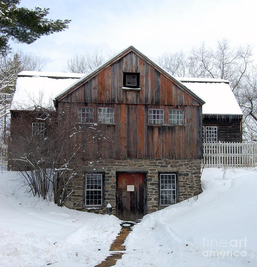 Sturbridge Village Photograph - Weathered Building At Old Sturbridge Village by John Small