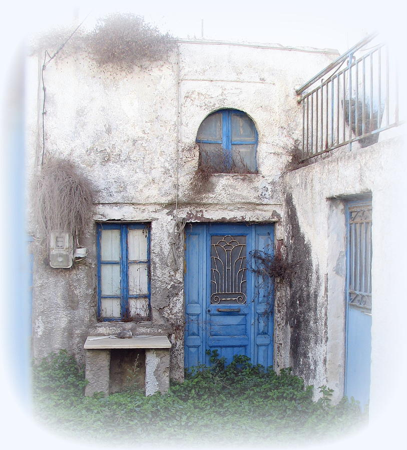 Santorini Photograph - Weathered Greek Building by Carla Parris
