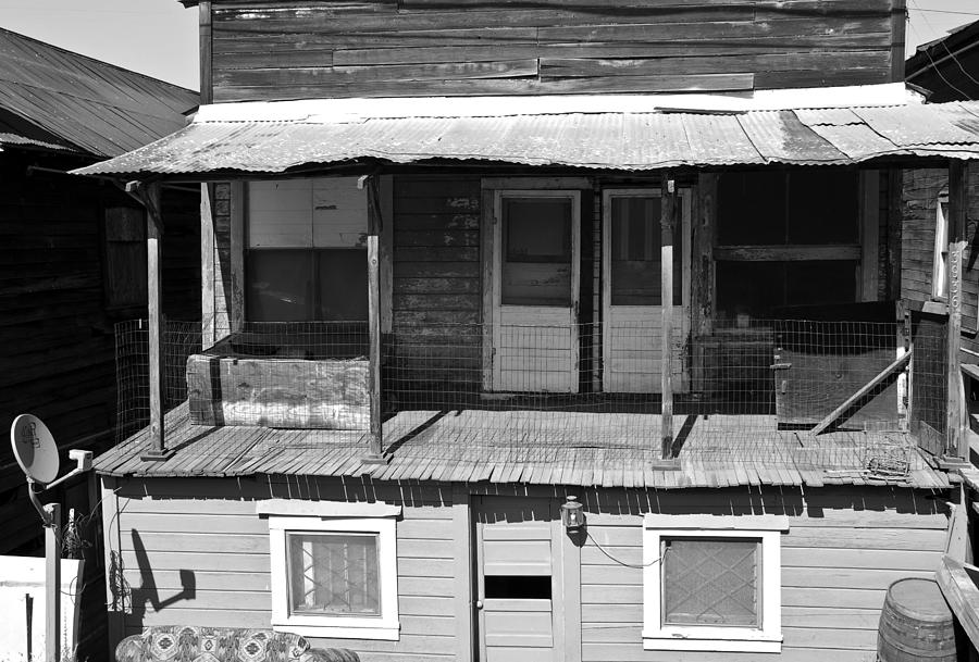 Weathered Home With Satellite Dish Photograph - Weathered Home With Satellite Dish by Shane Kelly