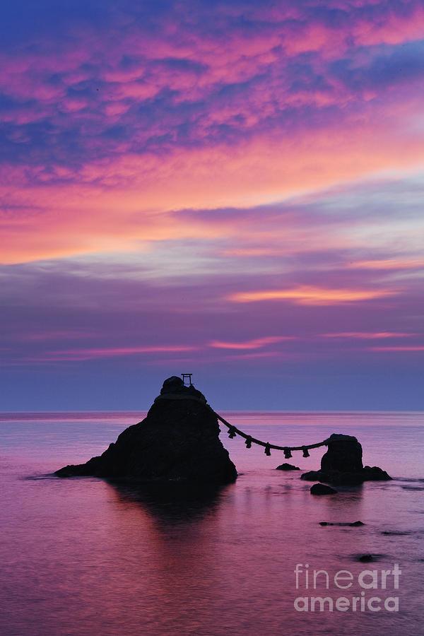 Asia Photograph - Wedded Rocks Of Futami by Jeremy Woodhouse